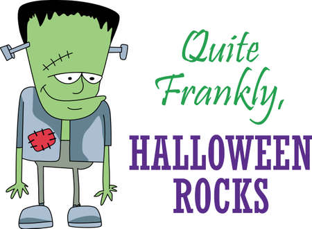 This trick or treat Frankenstein is here to wish you a happy Halloween.  Buy this as a special treat.  Your friends will love it!