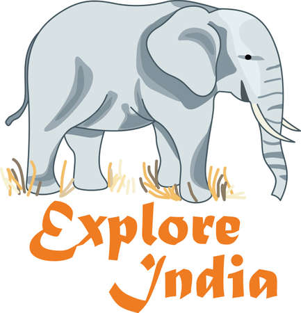 Explore India with this cute elephant.  Perfect for your classroom!