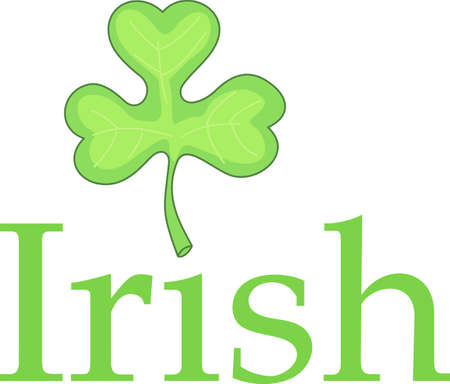 three leafed: Celebrate the luck of the Irish on St. Patricks Day with the love of your life.  Buy this to remember it the rest of the year!