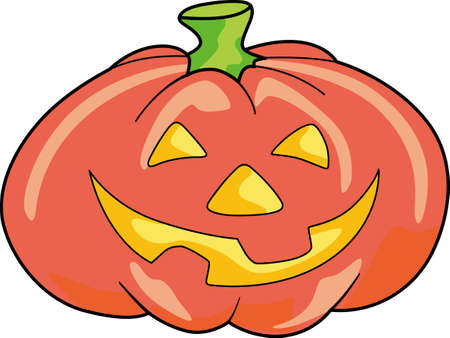 This trick or treat pumpkin is here to wish you a happy Halloween.  Buy this as a special treat.  Your friends will love it! Ilustração