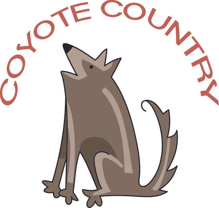 coyote: Show your western style with a coyote.  Perfect for a kids room!  They will love it!