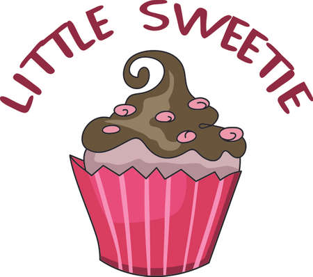 Give this cupcake to a girl to remember her birthday all year long.  She will love it! Ilustração