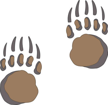 Time to cheer for the team with this bear paw mascot design.
