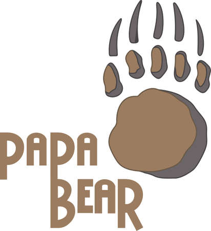 bruins: Time to cheer for the team with this bear paw mascot design.
