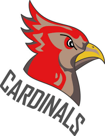 passerine: Time to cheer for the team with this Cardinal mascot design.  Illustration