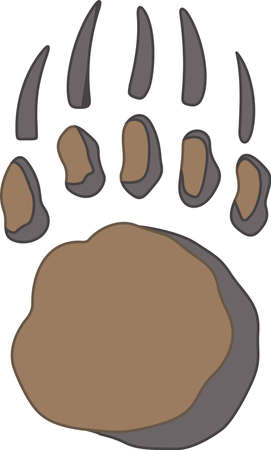 bear paw: Time to cheer for the team with this bear paw mascot design.
