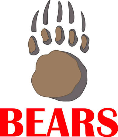 passerine: Time to cheer for the team with this bear paw mascot design.
