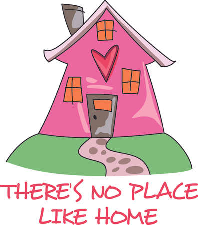Home is where the heart is.  Get this design for a house warming party.  They will love it! Illustration