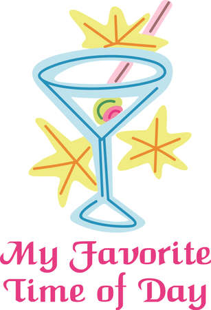 Martini is the perfect combination for group relaxation!  Give this to your friends and go out in style.  They will love it for happy hour.