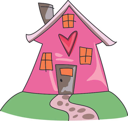 homes: Home is where the heart is.  Get this design for a house warming party.  They will love it! Illustration
