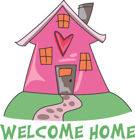 Home is where the heart is.  Get this design for a house warming party.  They will love it! Ilustrace