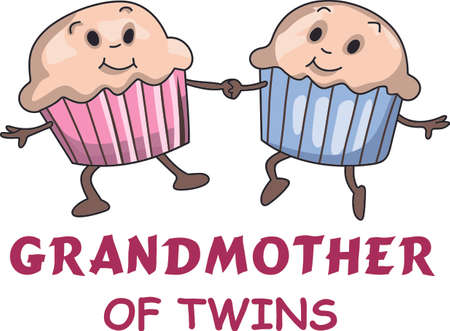 Twins are a wonderful and hectic time.  These muffins are perfect for the baby shower! Ilustrace