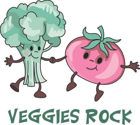 These veggies are perfect for the toddler bib or towel!  They will enjoy looking at this cute design.