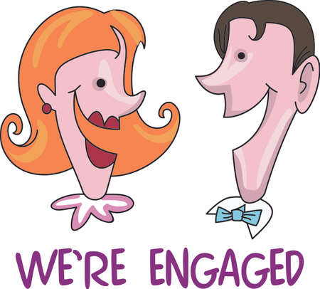 Send your fiancee these cute cartoon faces!  Its sure to bring a smile.