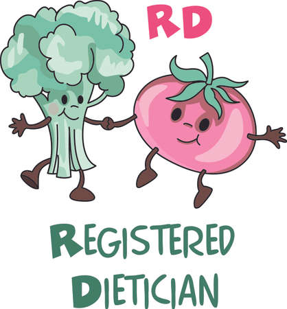 A registered dietitian is an important job to help others.  This design is perfect for thanking them.