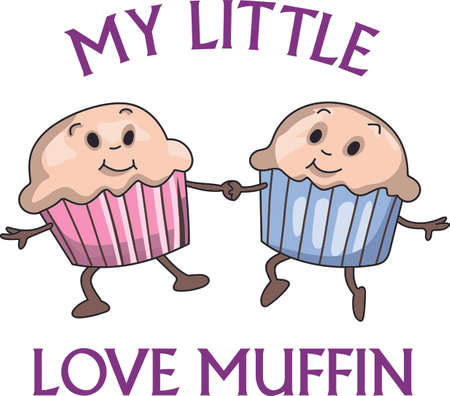 hectic: Twins are a wonderful and hectic time.  These muffins are perfect for the baby shower! Illustration