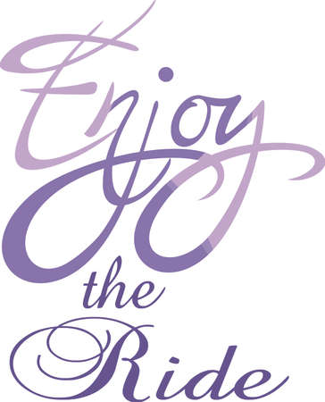 Enjoy life!  Add this inspirational message to a cup or other item to bring inspiration to others. Ilustração