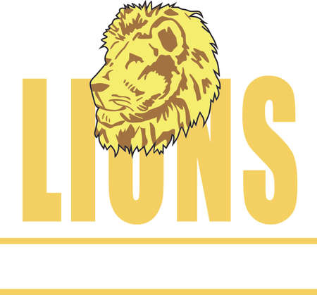 mountain lion: Show your team spirit with this Lion.  Perfect on a shirt or jacket. Everyone will love it!