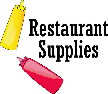 catsup: The perfect label for the supplies containers at your restaurant.