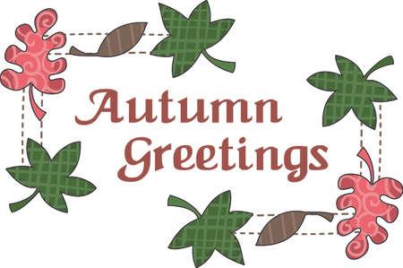 가을에 꾸미는 것이 너무 재미 있습니다. 디자인에 가을 잎을 넣어야합니다. 반원들이 그것을 좋아할 것입니다! 스톡 콘텐츠 - 44924737