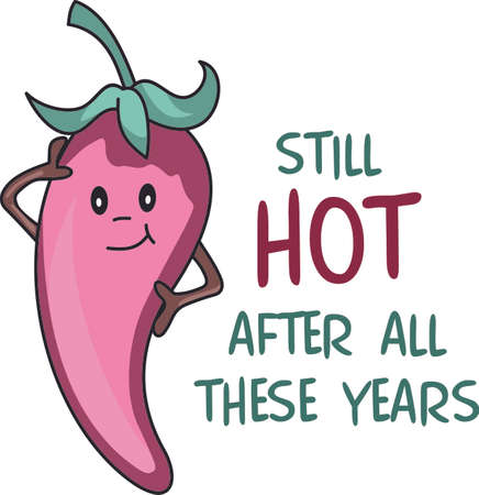 capsicum plant: Still hot after all these years.  A perfect image to add to an apron. Illustration