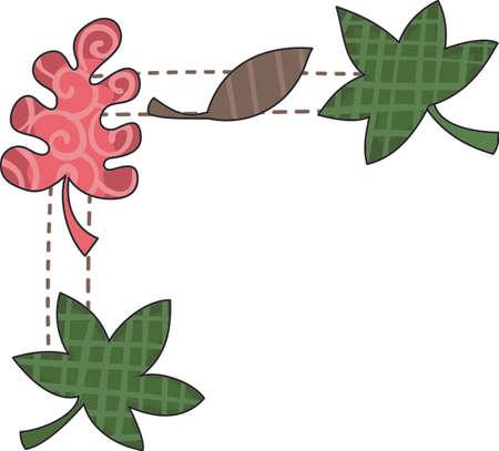 가을 장식하는 것은 너무 재미있다. 가을 디자인 나뭇잎 포함해야합니다. 클래스는 그것을 사랑합니다! 스톡 콘텐츠 - 44924741