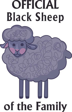 s horn: Counting sheep help you sleep.  Send your little one to dreamland with these cute sheep.  Perfect for the nursery! Illustration