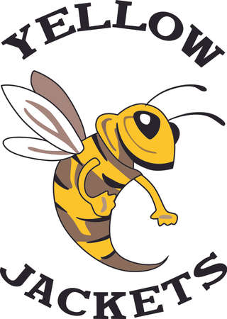 bleed: Show your team spirit with this Yellow bee.  Perfect on a shirt or jacket. Everyone will love it!