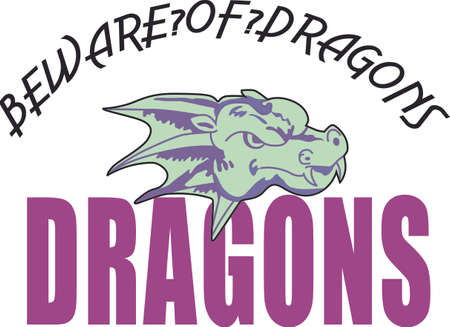 Show your team spirit with this Dragon.  Perfect on a shirt or jacket. Everyone will love it!
