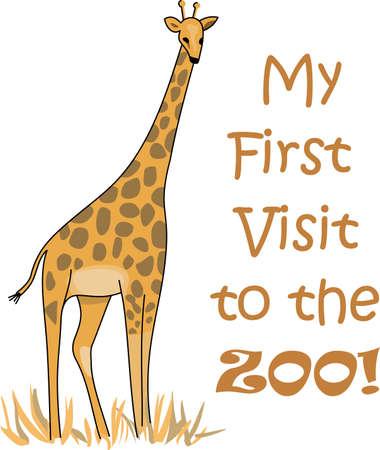 Afrika ontdekken met deze leuke giraf. Perfect voor je klas! Stockfoto - 44924855
