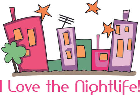 girls night out: I love the nightlife with all the buildings and lights.  The perfect design for girls night out.