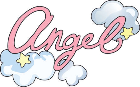 Chaque fois une cloche sonne et Angel obtient leurs ailes. Banque d'images - 44924896