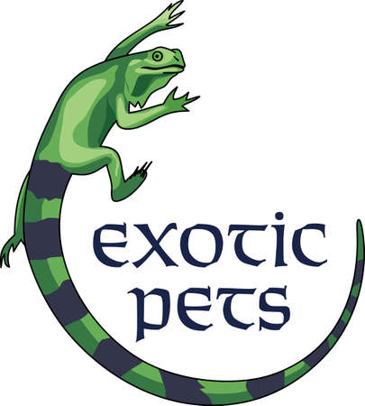 spines: This cute iguana is perfect to add to a pocket with a design to remember your cruise! Illustration