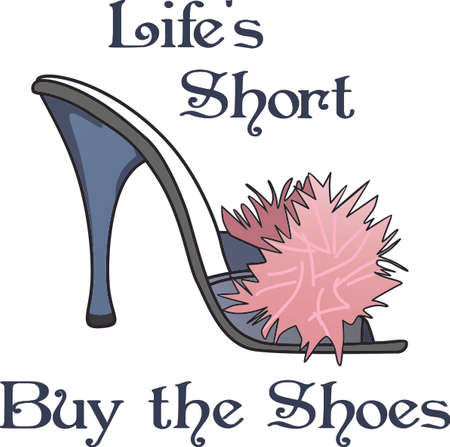 Ladies love collecting shoes.  Give them this perfect image when they go shopping for more.