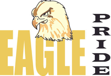 Show your team spirit with this Eagle.  Perfect on a shirt or jacket. Everyone will love it! Zdjęcie Seryjne - 44924974