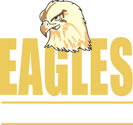 Show your team spirit with this Eagle.  Perfect on a shirt or jacket. Everyone will love it!