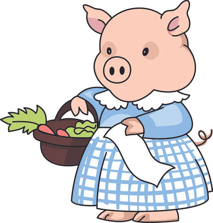 porker: This little piggy went to the market.  A cute design for the nursery.