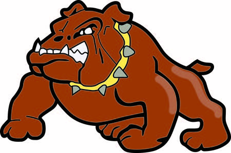 doggies: Time to cheer for the team with this Bulldogs mascot design.  Illustration