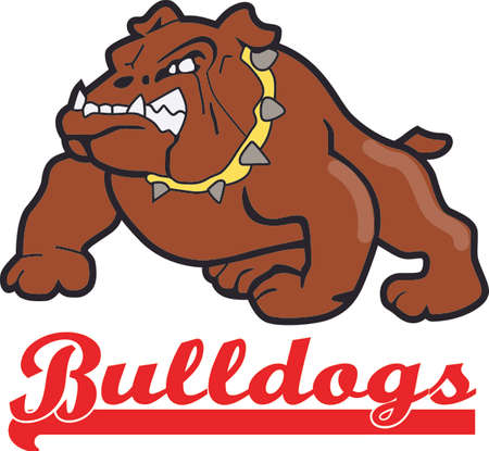 pooches: Time to cheer for the team with this Bulldogs mascot design.  Illustration