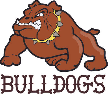 pooches: Time to cheer for the team with this Bulldogs mascot design.