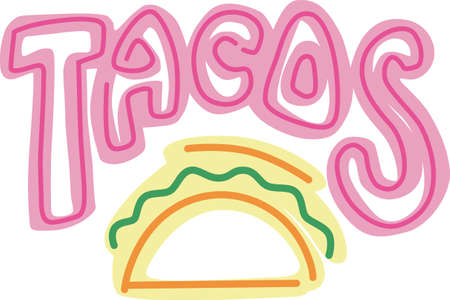 Show your pride for your taco business.  Its the perfect advertisement. Фото со стока - 44925086