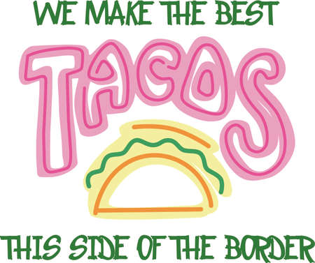 comida espa�ola: Show your pride for your taco business.  Its the perfect advertisement.