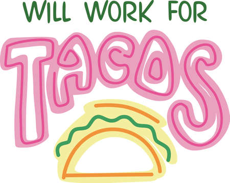 spanish food: Show your pride for your taco business.  Its the perfect advertisement.