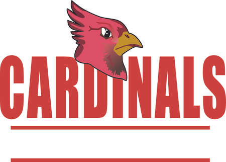 passerine: Time to cheer for the team with this Cardinals mascot design.