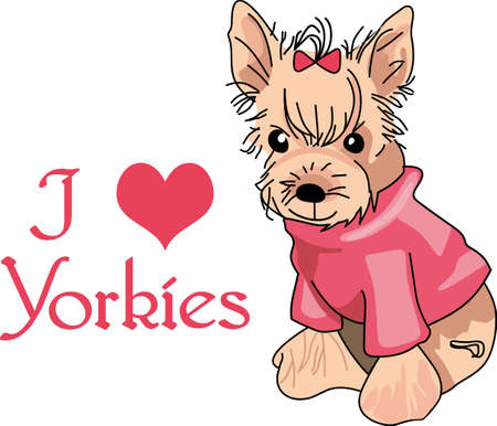 terriers: My best friend is hard at work for me.  Show everyone how much your dog means to you.  They will love it! Illustration