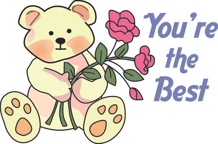 Send this cute teddy bear message to loved one for Valentines Day.  She will love it!