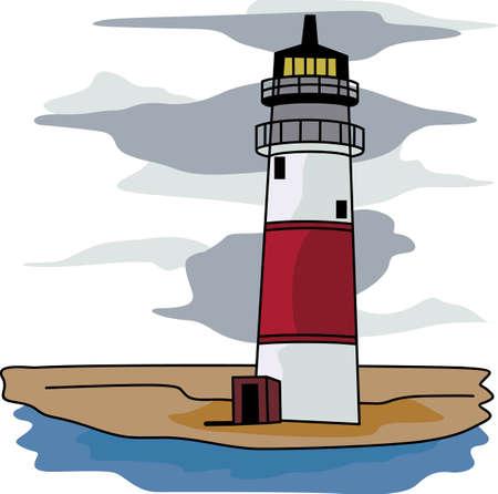 灯台は、公海上の船のため暗闇の中での光のビーコンです。