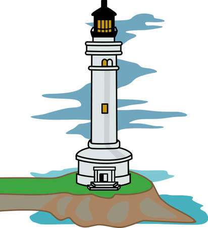 seas: A lighthouse is a beacon of light in the dark for ships on the seas.