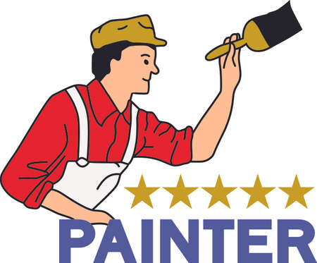 house painter: Its the perfect advertisement for your painting business.    Illustration