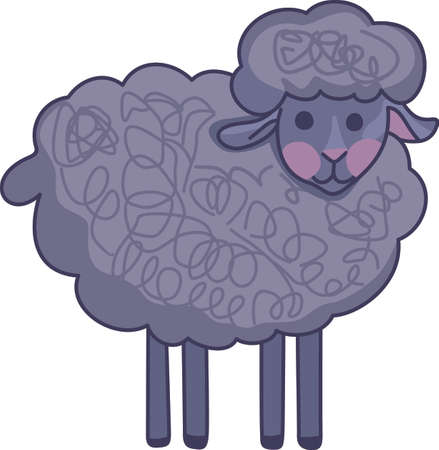 Counting sheep help you sleep.  Send your little one to dreamland with these cute sheep.  Perfect for the nursery! Çizim